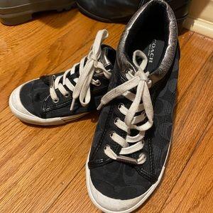 Authentic Coach Barrett Sneakers-Black Size 8